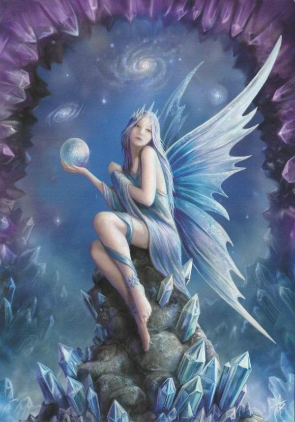 Anne Stokes STARGAZER Fairy Greeting Card